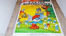 les schtroumpfs V'LA LES SCHTROUMPFS ! affiche cinema peyo animation bd