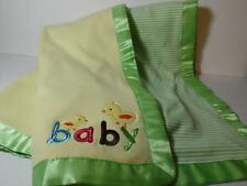 Carter's Soft Cotton Yellow & Green Stripe Embellished BABY CHICK Duck Blanket