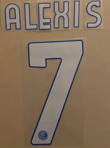 FLOCAGE Alexis Sanchez #7 Inter Milan Domicile 2020-2021 Home Nameset.