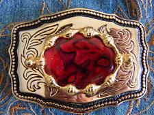 Cinturones de hombre en color principal rojo de metal