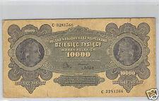 POLOGNE 10 000 MAREK 11.3.1922 N° C 3281566 PICK 32