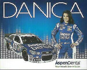 Danica Patrick Aspen Dental #10 CHEVORLET NASCAR SPRINT CUP POSTCARD