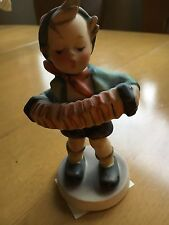 Vintage Hummel Figurine - Accordian Boy #185 - Tmk3 -