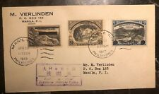 1943 Manila Philippines Japan Occupation First Day Cover Inverted S #N7 N2-1