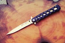 "Italian Style Stiletto Knife 4"" Blade Folding Knife Flipper Knife Pocket Knife"