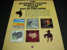 MARSHALL TUCKER BAND Their Past Is Now Out In The Open 1981 PROMO POSTER AD mint