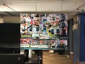 BIG 43x33 Ohio State Buckeyes vinyl Banner POSTER Osu ART Football Eddie George