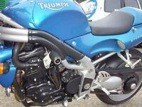Triumph 1050 Sprint ST 2005 R/&G Racing Classic Crash Protectors CP0147BL Black