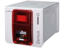 Evolis ZN1H0000RS Zenius Expert Card Printer - Single-sided - White/Red