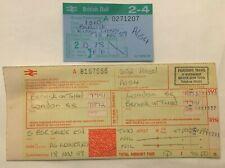 More details for british railways ticket berwick to london 1989 & reservation ticket