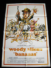 BANANAS R80 * WOODY ALLEN * COMEDY 1SHEET * JACK DAVIS ART * C10 MINT UNUSED!!