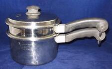 Saladmaster Stainless Steel 2 Quart Sauce Pan, Double Boiler & Vapo Lid Set