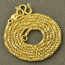 Fashion jewelry Yellow Gold Filled Box Womens Vintage charm Chain Necklace