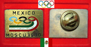 OLYMPISCHE SPIELE OLYMPIC GAMES MOSCU MOSKAU 1980 PIN * COMITE OLIMPICO MEXICO