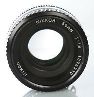 Nikon Nikkor 50mm 1:1.8 Objektiv Lens 50 mm f1,8 Prime Festbrennweite F Bajonett
