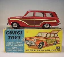 Corgi Toys 491 Ford Consul Cortina Super Estate Car OVP #115
