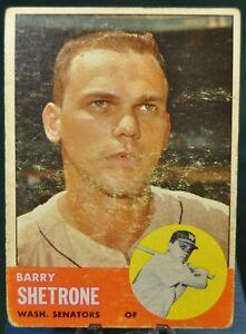 1963 Topps Baseball Card, #276 Barry Shetrone, Washington Senators - VG-EX