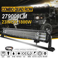 23inch Quad Row 1800W LED WORK LIGHT BAR SPOT & FLOOD COMBO OFFROAD 4X4 4WD ATV