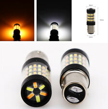 2Pcs Dual Color Switchback 4014 LED Turn Signal Light DRL Lamps 360° Beam Angle