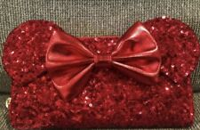 Nwot Loungefly red Minnie Mouse Sequin wallet Limited Ed. Bought In Hong Kong