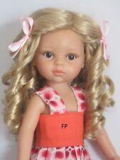 """perruque blonde boucles poupée moderne Paola Reina-T20/21.5cm-Doll wig sz8/8.5"""""""