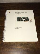 Apple II, II Plus, IIe Super Serial Card User's Manual In Fantastic Shape!!!
