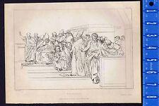 Raphael's Disputation of the Holy Sacrament - 1837 Burnet Copper Etching