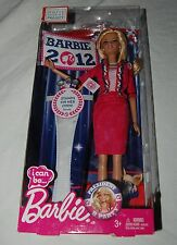 New White House Project Barbie 2012 I Can Be Doll Toy Mattel President Election