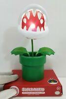 Super Mario Paladone Nintendo Piranha Plant Posable LED kid's desk lamp light