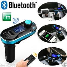 Wireless Bluetooth Dual USB Car Kit MP3 Player FM Transmitter SD LCD Hands-free