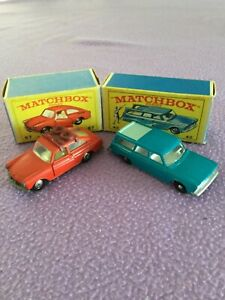 LESNEY MATCHBOX 2 CARS WITH ORIGINAL BOXES.