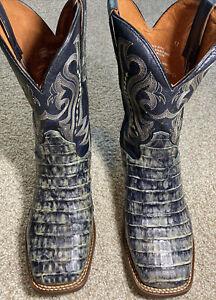 Dan Post Men's Caiman Belly Western Boot - Square Toe  - DPP0337 Size 11D