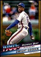 Dwight Gooden 2020 Topps Decade's Best Series 2 5x7 Gold #DB-63 /10 Mets