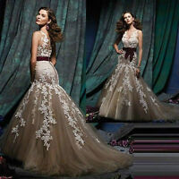 2016 New Long Mermaid Formal Prom Party Evening Pageant Wedding Ball Gown 6 8 10