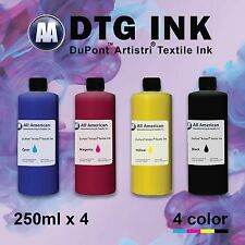 DTG Ink CMYK 250ml x4 Dupont Artistri Digital Ink for Direct to Garment Printer