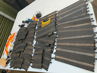 Scalextric 40 pieces of track & 65 accessories as pictured (not tested) lot BRE0