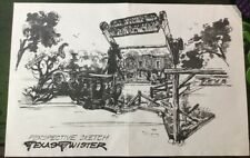 GEAUGA LAKE THEME PARK  ARCHITECTURAL RENDERING COPY FOR TEXAS TWISTER