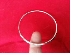 Stunning Stainless Steel Silver Tone very Thin Sikh Khalsa Kara Bracelet Bangle