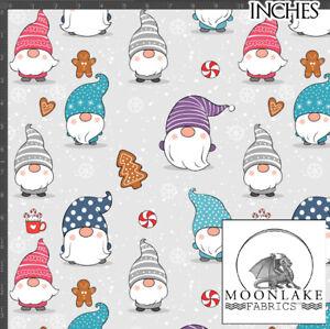 Christmas Scandi Gnomes COCO 100% Quality Cotton Poplin Fabric