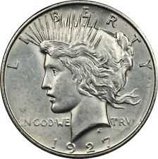 1927-D BU Details Uncirculated Peace Silver Dollar - Better Date, Flashy Luster!