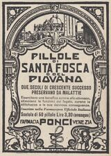 Z2558 Pillole del Piovana - Pubblicità d'epoca - 1930 old advertising