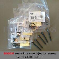 Inyector Juntas kit + 5 tornillos VW TOUAREG 2.5tdi TRANSPORTER AXD BLJ Axe
