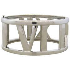 Tiffany & Co Atlas 18k White Gold Wide Bangle Bracelet