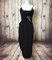 RUNAWAY Dress Size M Black Cocktail Party London Lover Lace