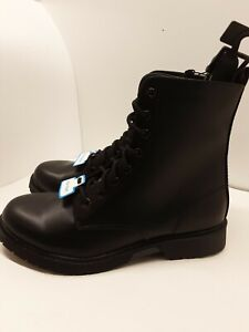 Time and Tru Womens Memory Foam Lug Boots Sz 11W Wide Black DOC Combat NEW TAGS