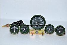 Willys MB Jeep Ford GPW Gauges Kit - Speedometer+Temp+Oil+Fuel+Ampere ( Green )