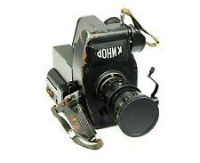 Rare Cine Kinor 16 mm Soviet movie camera with LOMO 160PF12-1 10x10  2.5