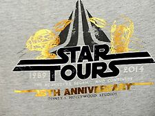 New Disney Parks Star Tours 25th Anniversary T-shirt Limited Edition Youth Small