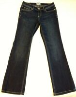 Aeropostale Womens Chelsea Bootcut Jeans Stretch Dark Blue Denim Size 5/6 Short