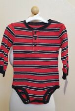 OHSKOSH B'gosh Baby/Toddler body suit 3 button front multi-color striped for 18M